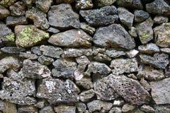 Detail van rotsen in een droge steenmuur Stock Foto's
