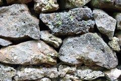 Detail van rotsen in een droge steenmuur Royalty-vrije Stock Foto
