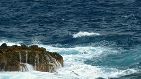 Detail van rotsen en golven stock footage