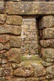 Detail van Ruïnes Inca in Machu Picchu royalty-vrije stock afbeeldingen