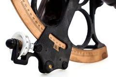 Detail van sextant Stock Fotografie