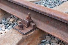 Detail van spoorwegspoor Royalty-vrije Stock Fotografie
