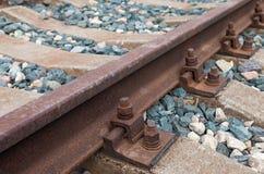 Detail van spoorwegspoor Stock Afbeelding