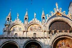 Detail van St Mark's Basiliek, Venetië stock afbeelding