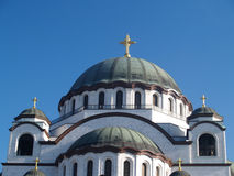 Detail van St. Sava Kerk Stock Afbeeldingen