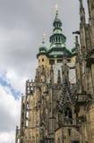 Detail van St Vitus Cathedral, Praag Stock Fotografie