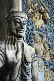 Detail van standbeeld van Boedha Stock Afbeeldingen