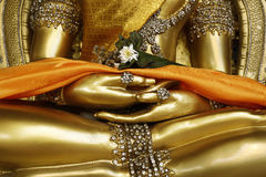 Detail van standbeeld van Boedha, Stock Foto's