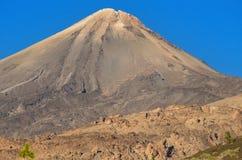 Detail van Teide-piek, in Tenerife, Canarische Eilanden, Spanje Stock Foto