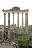Detail van tempel in Fori Imperiali in Rome Royalty-vrije Stock Fotografie
