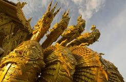 Detail van Thaise draak in Wat Sri Pan Ton, Nan, Thailand Stock Afbeelding
