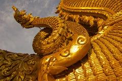 Detail van Thaise draak in Wat Sri Pan Ton, Nan, Thailand Stock Afbeeldingen