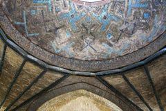 Detail van tilework, Turkije, Konya, Karatay binnenlandse Madrasa, stock afbeeldingen