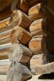 Detail van traditionele logboek-cabine royalty-vrije stock afbeeldingen
