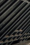 Detail van Trap - de Verlaten Wiekbouw - Youngstown, Ohio stock foto's