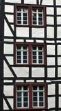 Detail van typisch half betimmerd huis Royalty-vrije Stock Fotografie