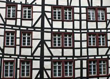 Detail van typisch half betimmerd huis in Monschau Royalty-vrije Stock Afbeelding
