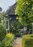 Detail van typisch Nederlands de zomerterras Royalty-vrije Stock Foto's