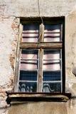 Detail van venster op het oude huis Royalty-vrije Stock Fotografie