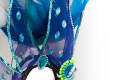 Detail van veren en borduurwerk voor Carnaval royalty-vrije stock afbeeldingen