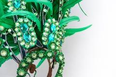 Detail van veren en borduurwerk voor Carnaval royalty-vrije stock foto