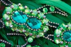 Detail van veren en borduurwerk voor Carnaval royalty-vrije stock fotografie