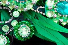 Detail van veren en borduurwerk voor Carnaval stock foto