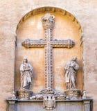 Detail van voorgevel van Monasterio San Juan DE los Reyes in Toledo Stock Fotografie