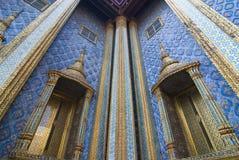 Detail van Wat Phra Keaw-muur Royalty-vrije Stock Fotografie