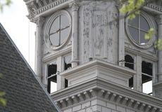 Detail van zaalschade op gerechtsgebouw royalty-vrije stock foto's