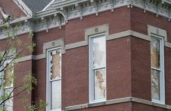 Detail van zaalschade op gerechtsgebouw royalty-vrije stock foto