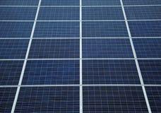 Detail van zonnepanelen Stock Foto's
