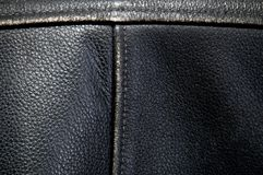 Detail van zwart de fietserjasje van het buffelsleer royalty-vrije stock afbeeldingen