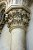 Detail of a vandalized column Stock Image