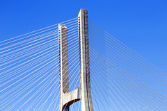 Detail from the Vasco da Gama Bridge in Lisbon Portugal Stock Photography