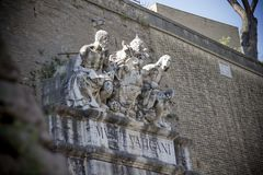 Detail Vatikaan Rome Italië Royalty-vrije Stock Foto