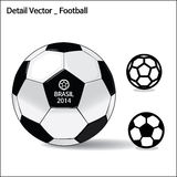 Detail vector - Football. Detail football, play soccer, soccer ball, time out Stock Images