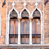 Detail of Venetian Architecture, Venice, Italy Royalty Free Stock Photography