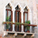 Detail of Venetian Architecture, Venice, Italy Stock Photos