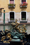 Detail of a Venetian gondola Stock Images