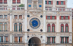 Detail of Venice clock tower Royalty Free Stock Image