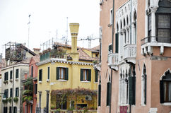 Detail of Venice typical Venetian chimneys Royalty Free Stock Photography