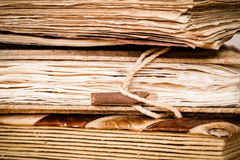 Detail of very old books Royalty Free Stock Photo