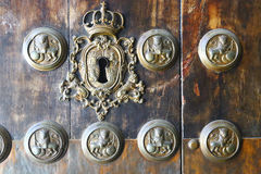 Detail of very old door in Sevilla, Spain Royalty Free Stock Photography