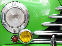Detail of a veteran car. Headlight Stock Image