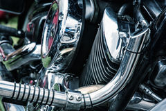 Detail of veteran motorbike Stock Photo
