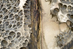 Detail view on a abrasion rocky Stock Photo
