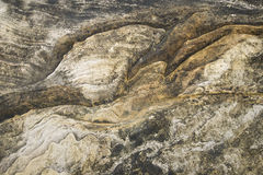Detail view on a abrasion rocky Royalty Free Stock Photos
