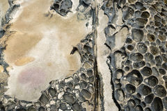 Detail view on a abrasion rocky Stock Photos