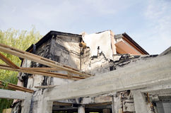 detail view of a burnt-out building Stock Images